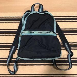 Vintage LeSportsac Blue Mini Backpack